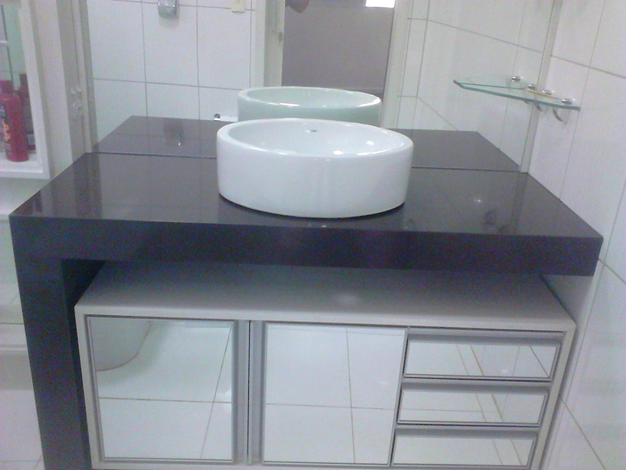 Banheiros  MTR Marmoraria -> Pia De Banheiro Granito Marrom Absoluto